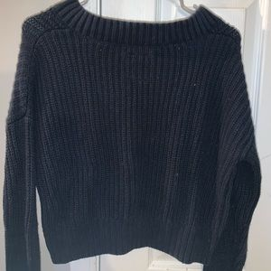 Hollister Sweaters - navy hollister crop sweater
